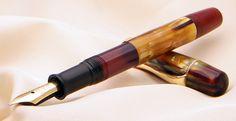 Pelikan 101N Dark Tortoise - Pelikan 101N Mother of Pearl Vintage Fountain Pen from end of 1930s !