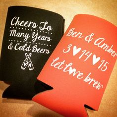 Let Love Brew ‪#‎wedding‬ ‪#‎koozies‬, congratulations Amber & Ben Tobe!