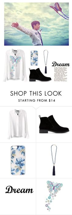 """""""Blue and Black"""" by pear-drop ❤ liked on Polyvore featuring Lucky Brand, Sonix, Rosantica, Dot & Bo and WallPops"""