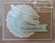 The Dragonfly Dreams Bundle is perfect for exquisite handmade cards!  Visit Stamping Madly for details.