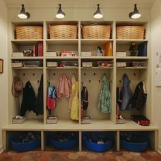 JAS Design Build - laundry/mud rooms - mudroom lockers, mud room lockers, woven baskets, hooks, mudroom hooks, shoe baskets, mudroom shoe st...