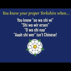 We're celebrating everything that is great about Yorkshire and probably worsening the stereotype in the process! Can you sum up Yorkshire in 1 image? South Yorkshire, Yorkshire England, Yorkshire Dales, Funny Images Gallery, Funny Photos, Yorkshire Sayings, Weekday Quotes, Funny Signs, France