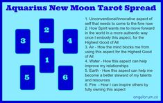 Make the most of tomorrow's New Moon with the Aquarius New Moon Tarot spread that helps you unlock the less conventional part of yourself.