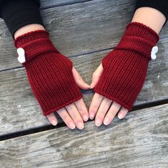 Fingerless gloves knit gloves hand warmers wrist warmers texting gloves grey and black – Artofit Fingerless Gloves Knitted, Crochet Gloves, Crochet Wallet, Crochet Baby Jacket, Texting Gloves, Red Gloves, Gloves Fashion, Wrist Warmers, Knitting Accessories