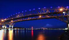 Pure Blue - The Blue Water Bridge in Port Huron, Michigan
