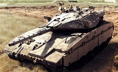 Israeli Merkava Tank.  Unique among MBTs in that the engine is located in the front.  This offers enhanced protection from enemy tank fire - as any incoming round would have to penetrate armor then the engine and then more armor.  In addition, the Merkava can be configured to carry several infantryman on-board in a pinch.