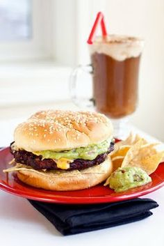 Grilled Guacamole Black Bean Burgers -- from premade items -- So you can relax!