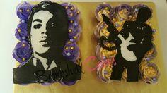 Prince (the artist) cake. buttercream and cupcakes Prince Birthday, Birthday Bash, Birthday Cakes, Buttercream Cupcakes, Cupcake Cakes, Rain Cake, Prince Cake, Artist Cake, High School Memories