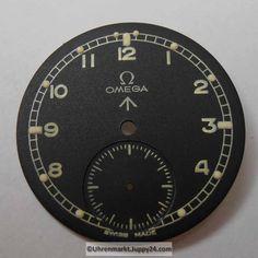 Nr14 Omega Military Zifferblatt mit leuchtenden Indizes (Dial) NOS.