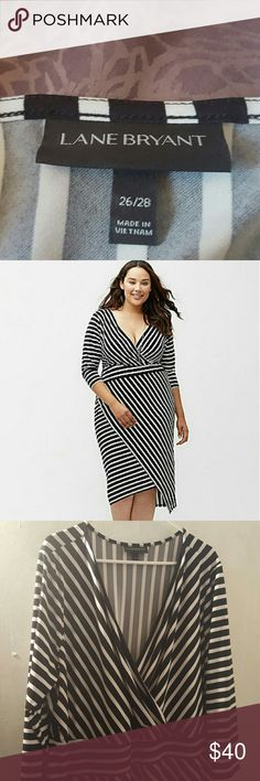 Lane Bryant Striped Dress 26 Lane Bryant Striped Dress - 26. Brand New, only worn to try on. Make me an offer! Lane Bryant Dresses Asymmetrical