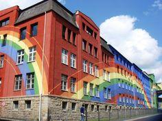 Regenbogen - Rosenthal Building in Selb by Otto Peine 1973