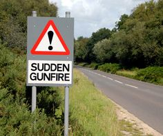 Funny Signs from Around the World: gunfire