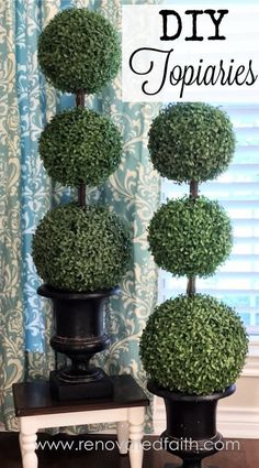 Making my own DIY Topiary Trees with Tiered Boxwood was not only easy but was a fraction of the cost. They complete the look of our porch in any season!