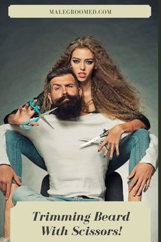 How to Trim Your Beard With Scissors - 11 Step Guide Beard Trimming Guide, Beard Trimming Styles, Beard Styles For Men, Best Beard Care Products, Hot Beards, Beards Funny, Beard Logo, Beard Wax, Beard Haircut