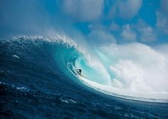 Shane Dorian in the barrel at Jaws