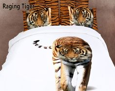 Raging Tiger by Dolce Mela, 4 PCs Animal Themed Bedding, Twin Size ...