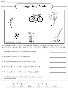 Map Scale Practice  Worksheets Real life and Distance