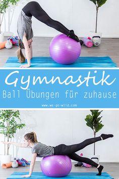 Gymnastikball Übungen für zuhause