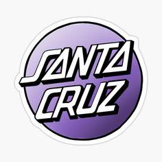Santa Cruz Stickers, Santa Cruz Logo, Hand Logo, Buick Logo, Sticker Design, Style, Art, Stickers, Doodle Drawings