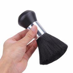 1pc Hair Salon Cleansing Slight Haircut Brush Black Soft Fiber  Beard Neck Duster Sweep