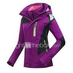 d09515a79d71a   69.99  GQY® Mujer Chaqueta de Esquí Mantiene abrigado Resistente al  Viento Listo para vestir Esquí Deportes de Invierno Poliéster Chaquetas  3-en-1 ...