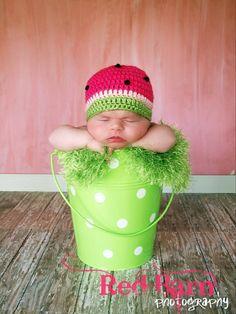 Crochet Summer Watermelon 6 to 12 months