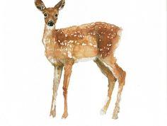 Hand drawn Deer Print