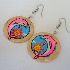 Brinco moda praia feito de coco. R$ 1,80