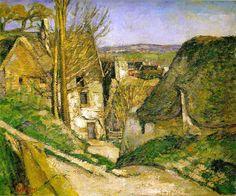 """PAUL CÉZANNE: """"La casa del ahorcado en Auvers-sur-Oise"""" - 1873 - óleo sobre lienzo, 55 x 66 cm - Paris, Musée d'Orsay."""