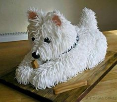WESTIE DESIGN BIRTHDAY CAKE. SO CUTE