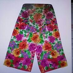 FINAL⏬🌹HP🌹Liz Claiborne Vintage Silk Sash Scarf Gorgeous silk sash scarf. The colors are very vibrant. Liz Claiborne Accessories Scarves & Wraps