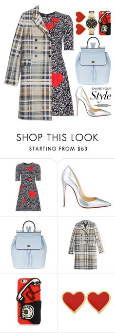 """""""Feb 14th (tfp)"""" by boxthoughts ❤ liked on Polyvore featuring Dolce&Gabbana, Christian Louboutin, Paul & Joe, Tory Burch, Marc by Marc Jacobs, women's clothing, women, female, woman and misses"""