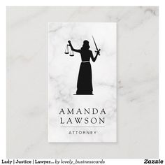 Lady | Justice | Lawyer Appointment Card Lawyer Business Card, Appointment Card, Lady Justice, Attorney At Law, Elegant Business Cards, Write It Down, Standard Business Card Size, Personalized Stationery, Get The Job
