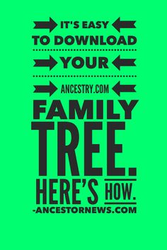 Downloading your family tree from Ancestry.com is really easy. I show you step-by-step (with photos!) how to do it. It's always wise to back up your tree on your own system.