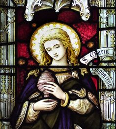 Mary means 'wise woman/lady'. It is a Greek form of the Hebrew Miriam or Mariamme, and was the most popular woman's name at the time - perhaps a tribute to the young and beautiful Princess Mariamme, murdered by her husband King Herod in 28/27BC. Mary came from a now-vanished town called Magdala, on the western side of the Sea of Galilee. She is often called Mary Magdalene