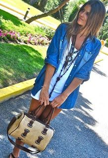Nice things: Jean shirt stylin' - Στυλ με τζιν πουκάμισο  #jeans #jeanshirt #fashion #style #summer #summerstyle
