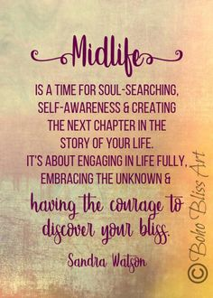 Midlife is a time for soul-searching, self-awareness & creating the next chapter in the story of your life Quote Wall Art Wall Art Quotes, Me Quotes, Quote Wall, Peace Quotes, Qoutes, Bliss Quotes, Mommy Quotes, Soul Searching Quotes, Self Awareness Quotes