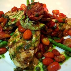 Facebook Pinterest ------------------------------- ------------------------------- This chicken recipe was inspired by one of the healthier options on the Cheesecake Factory menu. The Italian flavors make this dish every bit as tasty as any other chicken recipe. This recipe is simple to make and easy to prepare, making it a good choice for a week night meal. If you are looking for a tasty Italian chicken recipe, you won't want to pass this one up. This light copycat recipe is the perfect…