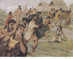'The Abduction of the Sabine Women' is an episode in the legendary history of Rome, traditionally said to have taken place in 750 BC, in which the first generation of Roman men acquired wives for themselves from the neighboring Sabine families. - Ancient History Encylopedia (Peter Connolly/user: Aethon)