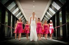 Pink and orange gerbera daisy wedding theme.