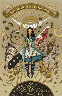 macabre Alice in Wonderland Lewis Carroll, Alice Liddell, Dark Alice In Wonderland, Adventures In Wonderland, Creepy Games, Creepy Art, Alice Madness Returns, Dark Fantasy, Chibi