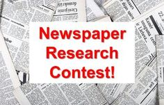 Newspaper Research Contest