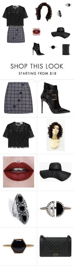 """""""Untitled"""" by sass-queen-159 ❤ liked on Polyvore featuring Balmain, Diane Von Furstenberg, Boohoo, Palm Beach Jewelry, Bony Levy, Isabel Marant and Chanel"""