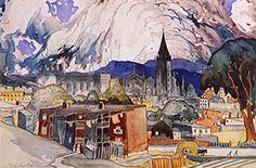 Marc-Aurèle Fortin (March 1888 – March was a Québécois painter. Canadian Painters, 21st Century, Aqua, America, Urban, Landscape, Laundry, Canada, Painting