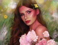 Makeup and hair by Ilona Cavallini Disney Characters, Fictional Characters, Flora, Photos, Disney Princess, Instagram, Makeup, Hair, Painting