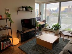 Living room and office space - Calgary, AB : AmateurRoomPorn Living Room Setup, Bedroom Setup, Simple Living Room, Boho Living Room, Home And Living, Living Spaces, Apartment Layout, Apartment Design, Apartment Living