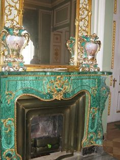 Malachite Fireplace