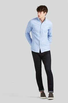 Our Jasper Oxford is a classic, slim-fitting wardrobe mainstay that's crafted for comfort from ultra-soft cotton no man should go without. Available in a variety of colours, this staple is a great choice for day or night and through the seasons. Features