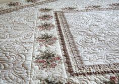 """Купить покрывало """"Облака из роз"""" - белый, покрывало, стеганое покрывало, стеганое одеяло, одеяло, для спальни"""