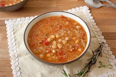 The Vegan Chickpea: Chickpea, Quinoa, and Tomato Soup